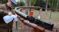 Grandpa Enjoys His Cool Toy: Richard Sears' R/C Installed Aster Gauge 1 Merchant Navy Locomotive