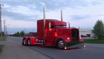"The ""Red Dragon"" Custom Built Kenworth W900 is One Particular Truck"