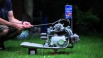 Flawlessly Running Honda V-Twin Engine Built From Two Honda SS50 Engines