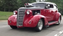 Let's Get on the Road: 1938 Chevy Master Pro Street Hot Rod Hits the Road to Woodward Avenue