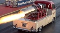 800mph Rolls Royce Turbo Jet Engine Powered Willy Jet Bus Performs an Incredible Demo Run at Santa Pod Raceway