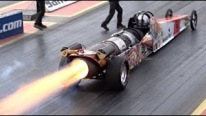 Insane Dragster FireForce 5 Performs and Unforgettable Show at Santa Rod Dragway!