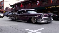 Ingeniously Slammed 1958 Chevy Impala Drives Like It Floats on the Street