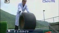 """Tire Ski Jump"": A Weird Japanese Competition of Different Tires Rolling Down a Ski Jump"