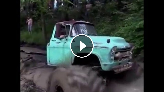 Chevy Muscle Cars >> Old Chevy Truck is Turned into a Cool Monster Truck with ...