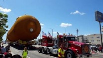 154 Feet Space Shuttle External Fuel Tank Parades Through the Streets of Los Angeles