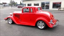 360ci V8 Powered 1933 Plymouth Coupe with the Lipstick Red Paint!