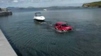 1993 Mitsubishi Pajero Launches a Gigantic Boat Smoothly Like a Boss