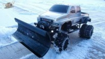 R/C Snow Plow Works as Functional as an Original Size One!