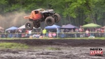 Compilation of Mega Truck Hitting the Big Jump at Perkins Mud Bog Spring Sling