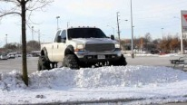 Useless or Cool? Ford F-350 Pickup Truck With 54 Inch Gigantic Tires