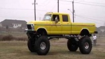 Fantastic Ford Truck Not Slammed to the Ground but Lifted to the Sky!