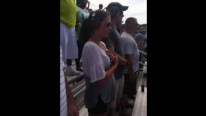 How a Pretty Lady Gives Reaction After Seeing Top Fuel Dragsters For The First Time Ever!