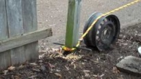 Pulling Out a Stubborn Fence Post Easily and Quickly
