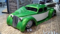Beauty in Green: Twin Turbo Cummins Diesel Powered 1936 Chevy Custom Wide Dually Truck Appear for the First Time at SEMA Show