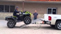 Guy Spend Great Effort to Load His New ATV on a Truck