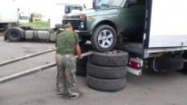 Majestic Cargo Truck Lada Niva is Unloaded in Russian Style