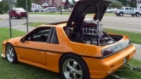 Supercharged V8 Powered Pontiac Fiero Has its Engine at a Different Place!