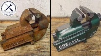 Broken Rusty Deadlocked Vise Goes Through Restoration and Comes Out Perfect!