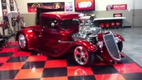 Blown 426 Hemi Powered 1934 Ford Truck Shines Like a Huge Piece of Ruby!