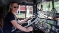 Crazy Girlfriend Drives Huge Kenworth Truck Like a Pro!