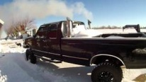 The Best Ever: Fantastic Ford F-250 with 600 HP 7.3 Engine is Cold Started in Colorado