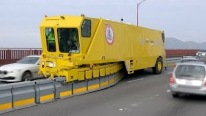 Road Zipper Barrier System Saves Lives on the Golden Gate Bridge!