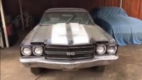 LS6 Powered 1970 Holy Grail Black Tuxedo Chevelle Left Parked for 35 Years!