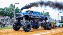 Boss-Like Mega Trucks Prove Themselves on Pulling Contest