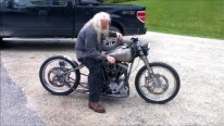 Old Boy with an Old Harley Bike Feels the Spirit of Being a Real Biker!