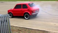 V8 Chevy Powered Tiny Little Fiat 126 Maluch Races Fiercely Against Charismatic Classic