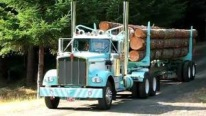 1974 Kenworth 12v71 Logging Truck Returns Home After a Long and Tiring Journey