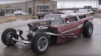 1957 Chevy Wagon Rat Rod Takes a Cool Tour Along the Streets