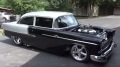 1955 Chevrolet Pro Street Shines in Black and Silver!