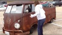 Cool Lady Makes Some Good Patinas With Her VW Rat Truck!
