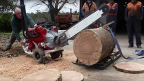 Australian Chainsaw Powered By A V8 Engine!