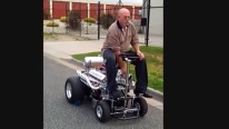 Cool Grandpa Taking a Cruise On a 750 Foot Hoss Fly 690hp V8 Powered Barstool